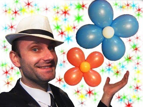 Как из шариков сделать цветок на стену