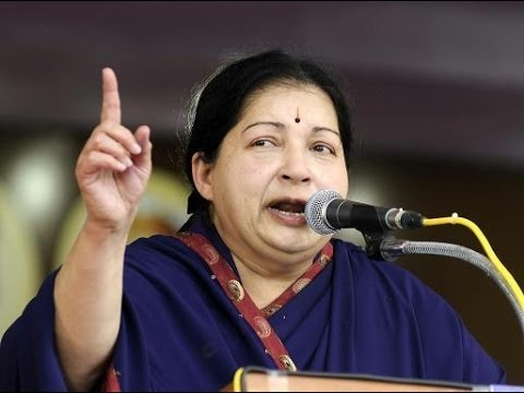Tamil Nadu Chief Minister J Jayalalithaa takes aim at P Chidambaram