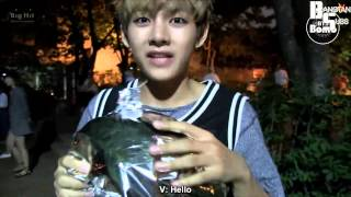[ENG] 130814 BANGTAN BOMB   BTS with helium filled balloon