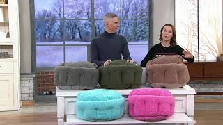 Burrow Bud Cozy Cuddle Pet Bed on QVC