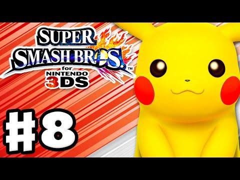 Super Smash Bros. 3DS - Gameplay Walkthrough Part 8 - Pikachu! (Nintendo 3DS Gameplay)