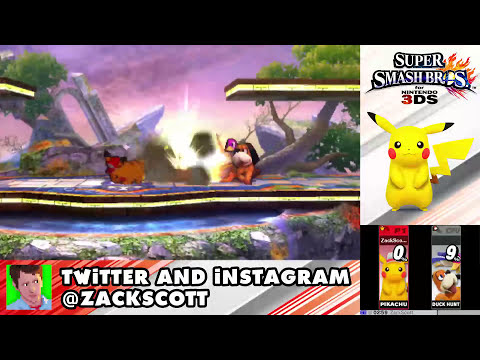 Super Smash Bros. 3DS - Gameplay Walkthrough Part 8 - Pikachu! (Nintendo 3DS Gameplay)