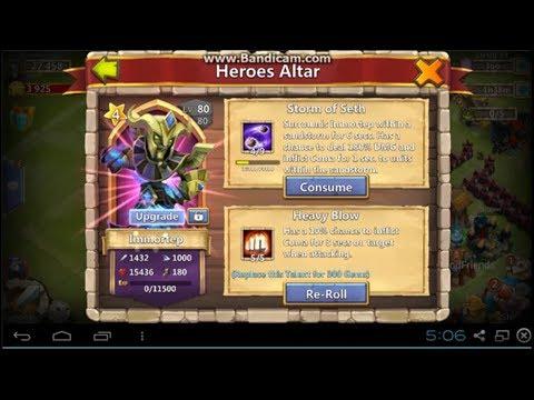 Castle Clash New Legendary Hero Immortep
