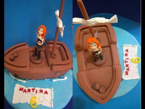 Torta Barco Pirata. Hada Zarina. Tinker Bell.  Paso a paso