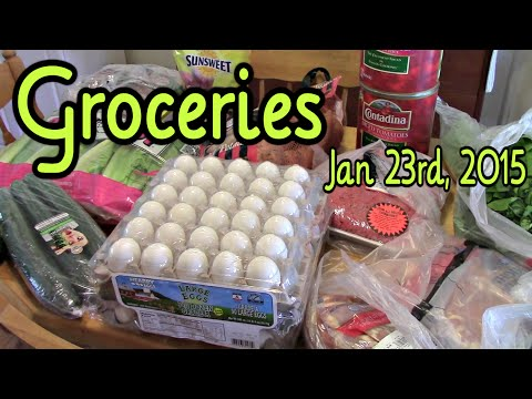 Grocery Haul (Costco)~ January 23rd 2015