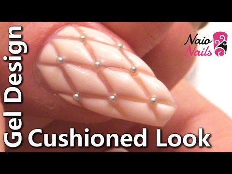 Cushioned / Quilted Gel Nail Design Nail Tutorial
