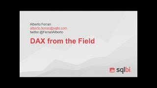 SQLDay 2014 | track3 | Alberto Ferrari - DAX from the field: Real World Case Studies (300)