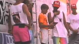 Kelly Slater surfs1988 OP East Contest