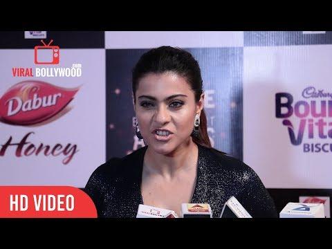 Kajol Funny Expression When Media Reporter Ask Questions | Kajol Devgan