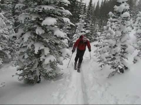 Backcountry Skiing, Terrain Park, Rocky Mountain National Park, Colorado