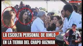 Así recibieron a Lopez Obrador en la Tierra del Chapo Guzman - La Escolta de AMLO