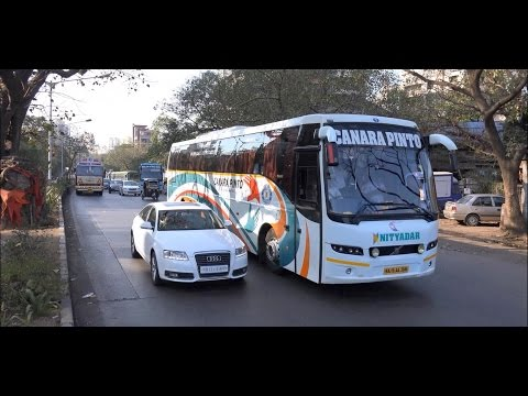 Day & Night Coverage of 18 Superb Colourful Volvo Buses in Mumbai, India !!!