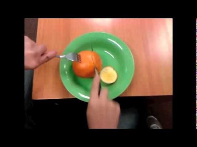 Cómo comer una naranja con tenedor y cuchillo