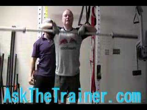 Barbell Upright Row - trapezious Deltoids Traps Exercise Image 1