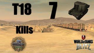 World of Tanks Blitz - T18 7 Kills and Raseiniai Medal