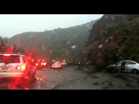 Miracle Man Trapped Inside Car During Mudslide It's Like Being In Revelation In The Bible!!