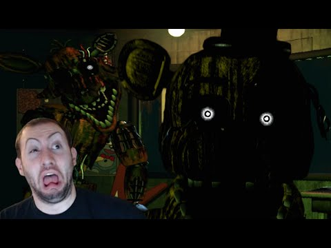 Five Nights At Freddy's 3 Gameplay Part 2, Night 3: FOXY GIVES ME MY BIGGEST SCARE EVER!!!