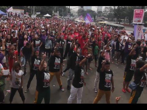 Groups #Rise4Revolution in One Billion Rising