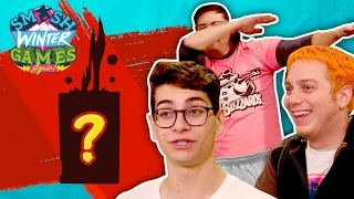 DISGUSTING FOOD COMBOS w/ LASERCORN (Smosh Winter Games)