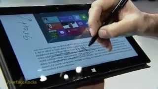 Microsoft Surface Supports Digital Ink/Stylus