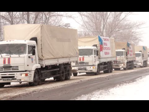8th Russian aid convoy brings food, fuel & supplies to Donetsk, E.Ukraine