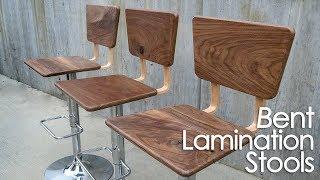 DIY Bent Lamination Bar Stools// Upcycled Bar Stools