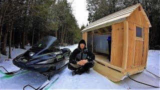 Snowmobile Camper / Winter Sled Shelter / Log Cabin Update- Ep 11.3