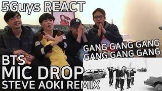 Download Lagu [SWAG FANBOYS] BTS - MIC DROP (Steve Aoki Remix) 5Guys MV REACT Gratis STAFABAND