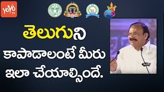 Venkaiah Naidu About Telugu Language | Telugu Mahasabhalu 2017 | World Telugu Conference