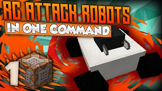 Minecraft One Command - RC ROBOT WARRIORS! | RC Attack Robots In One Command