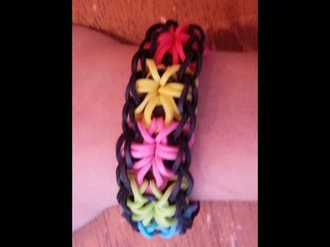 How to make RAINBOW LOOM STARBURST BRACELET
