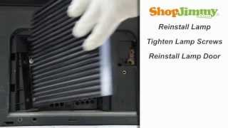 Toshiba DLP TV Repair - Replacing & Installing Toshiba Y66-LMP DLP Lamp - How to Fix DLP TVs