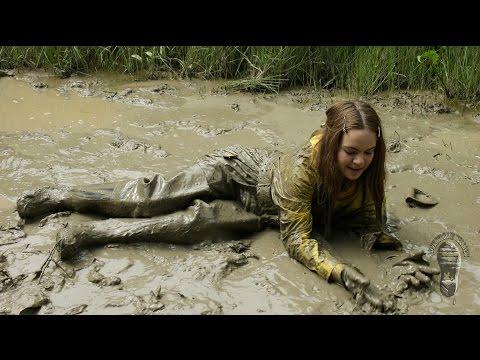 Her muddy rainwear