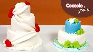 Mini Wedding Cake - Tutorial di Coccole Golose