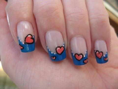 Nail art: Last minute valentine design