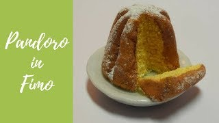 Tutorial: Pandoro in fimo (pandoro in polymer clay) (christmas decoration) [eng-sub]