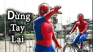NGƯỜI NHỆN đi xe đạp | PARKOUR Giải Cứu Con Tin | SPIDERMAN REAL LIFE PARKOUR