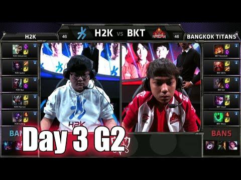 H2K Gaming vs Bangkok Titans   Day 3 Game 2 Group C LoL S5 World Championship 2015   H2K vs BKT D3G2