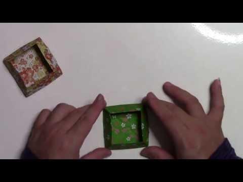 チラシで作るお菓子入れ ... : 折り紙 小物入れ 簡単 : 折り紙