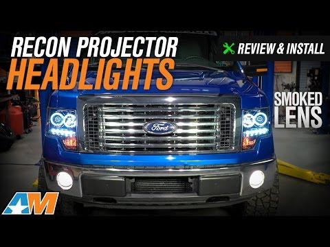 2009-2014 F150 Recon Projector Headlights w/ CCFL Halo Review & Install