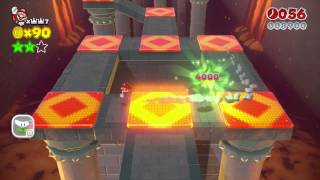 Super Mario 3D World ~ World Castle-3 Green Star & Stamp Guide