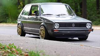Eurodubs Golf MK1 by Damir - 1.8 16v KR with carburetors and Porsche wheels