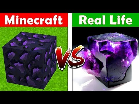 MINECRAFT OBSIDIAN IN REAL LIFE! Minecraft vs Real Life animation