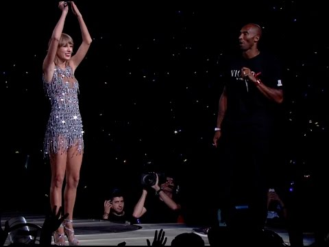 Taylor Swift honored with her own championship banner by Kobe Bryant