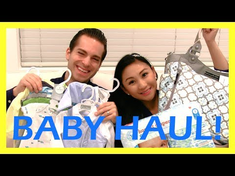 First Baby Haul! Diaper bag, infant clothes & more!