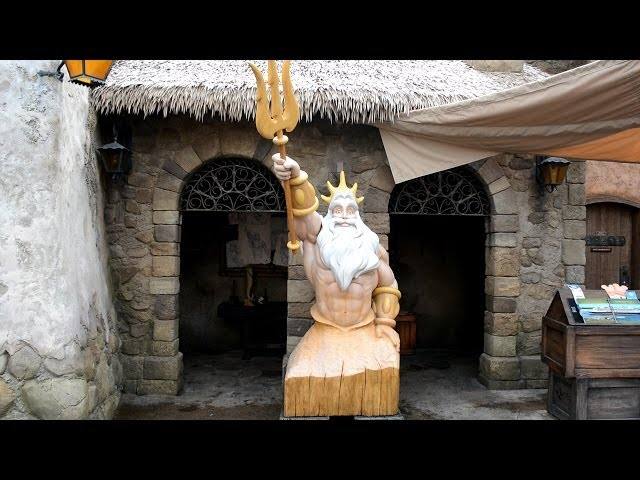Prince Eric's Village Detailed Tour w/ King Triton Statue in New Fantasyland - Little Mermaid, DVC