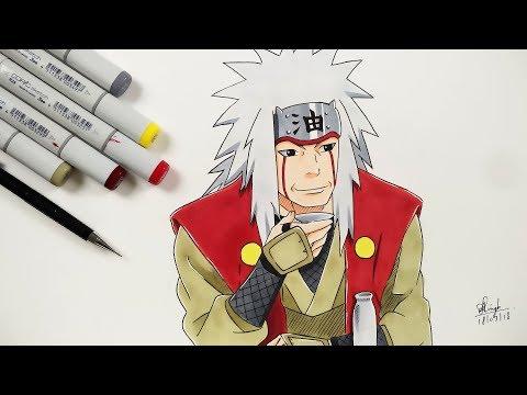 How To Draw Jiraya - Step By Step (Tutorial) - Naruto Shippuden