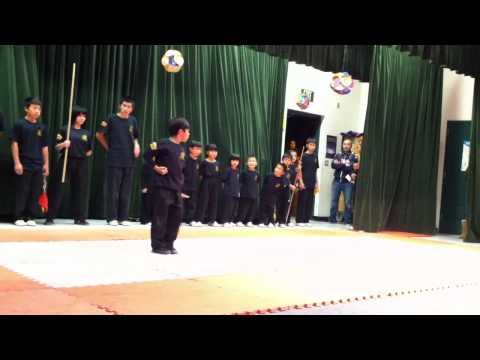 Kung Fu Dragon USA performance at Wanda Hirsch elementary school Tracy, CA