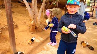 Arina  Pretend Play As a FARMER Taking Care of Animals & Farm