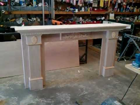 How To Build A Fireplace Mantel And Surround 3 Of 5 Youtube